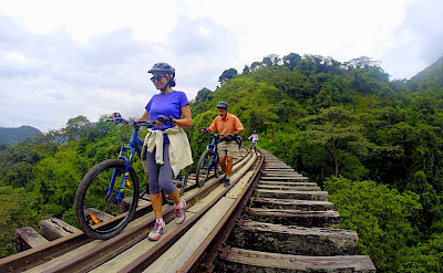 Riding the bike in Amaga, Colombia.