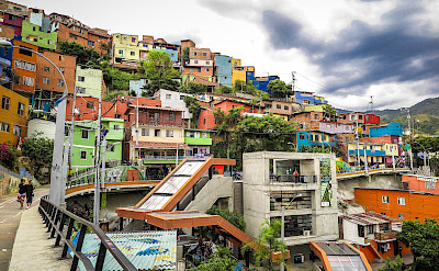 One of the towns en route in Colombia.