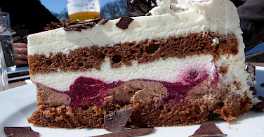Schwarzwälder Kirschtorte in Austria - a cycling treat! Photo via Flickr: Raphaël Labbé