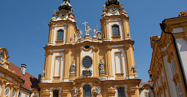 The famous Baroque Benedictine Monastery in Melk, Lower Austria. Photo via Flickr:Nigel Swales