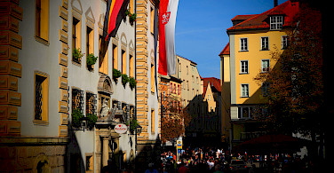 Kohlenmarkt in Regensburg, Germany. Photo via Flickr:Stefan Jurca