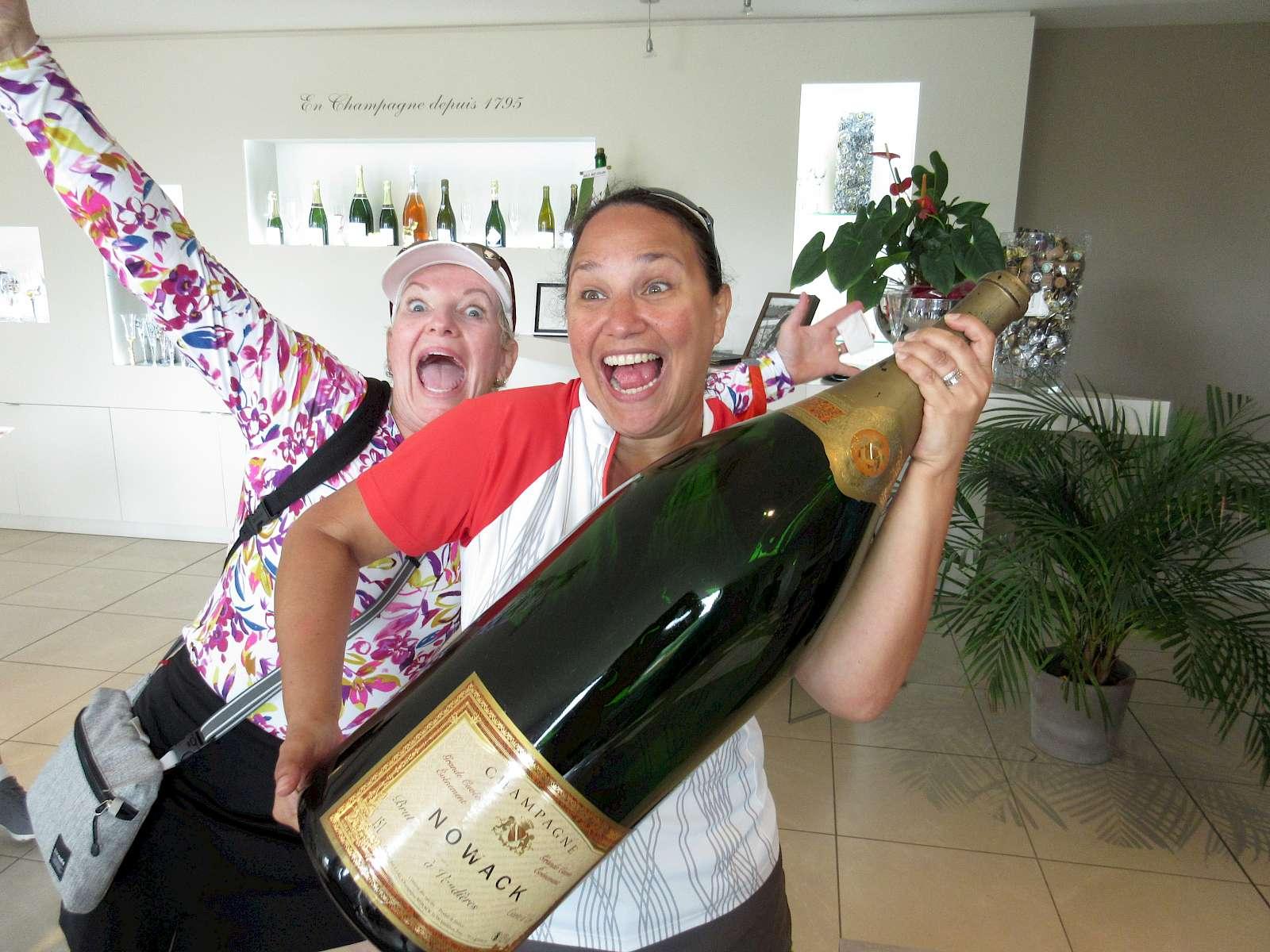 Big bottle of champagne