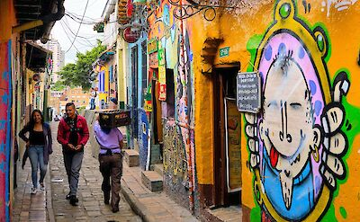 Awesome murals in La Candelaria, Bogotá, Colombia. Flickr:Pedro Szekely