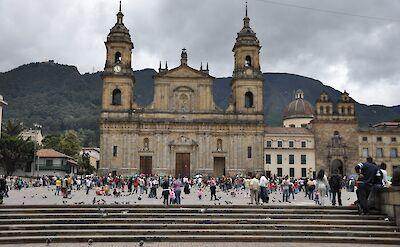 Bolivar Plaza in Bogotá, Colombia. Flickr:momentcaptured1