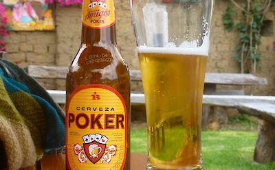 The local Cerveza Poker Colombian beer! Flickr:Erik Cleves Kristensen