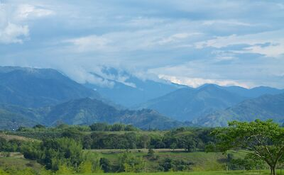 Lush green hills & mountains in the Coffee Triangle of Colombia. Flickr:McKay Savage