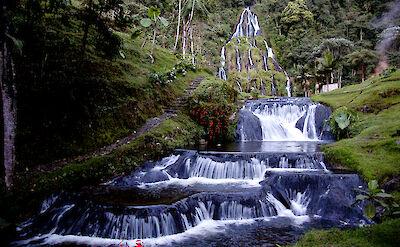 Waterfalls at Santa Rosa de Cabal in Risaralda, Colombia. Flickr:Triángulo del Café Travel