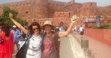 Hennie at the Agra Fort in Rajasthan, India.