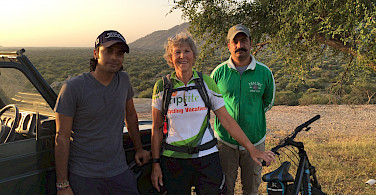 Hennie with her guides Bali and Pali in Rajasthan, India.