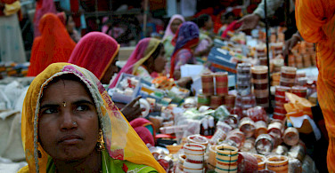 Sadar Bazaar, one of the oldest markets in India. Jodhpur, Rajasthan, India. Photo via Flickr:Tom Thai