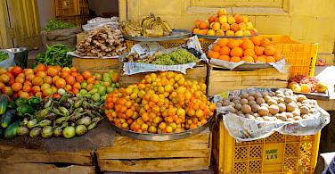 Market in Rajasthan, India. Flickr:vickydoc