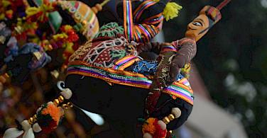Handmade puppets at a Rajasthani flea market. Photo via Flickr:Priyambada Nath
