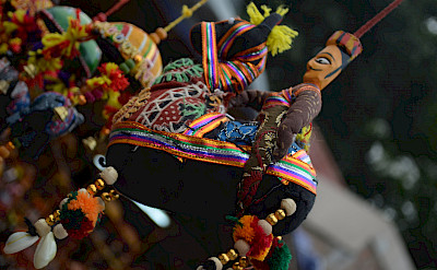 Handmade puppets at a Rajasthani flea market. Photo via Flickr:Priyambada Nath