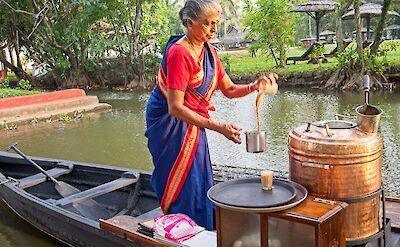 Tea Lade in Kumarakom, Kerala, India. Flickr:Brian Scott