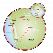 Serenity in the Heart of India Map