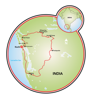 Rural Kerala, India Map