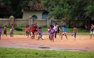 Kids playing soccer in Fort Kochi, Kerala, India. Flickr:Girish Gopi