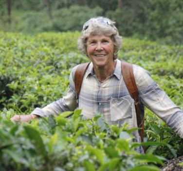 At a tea plantation in Munnar