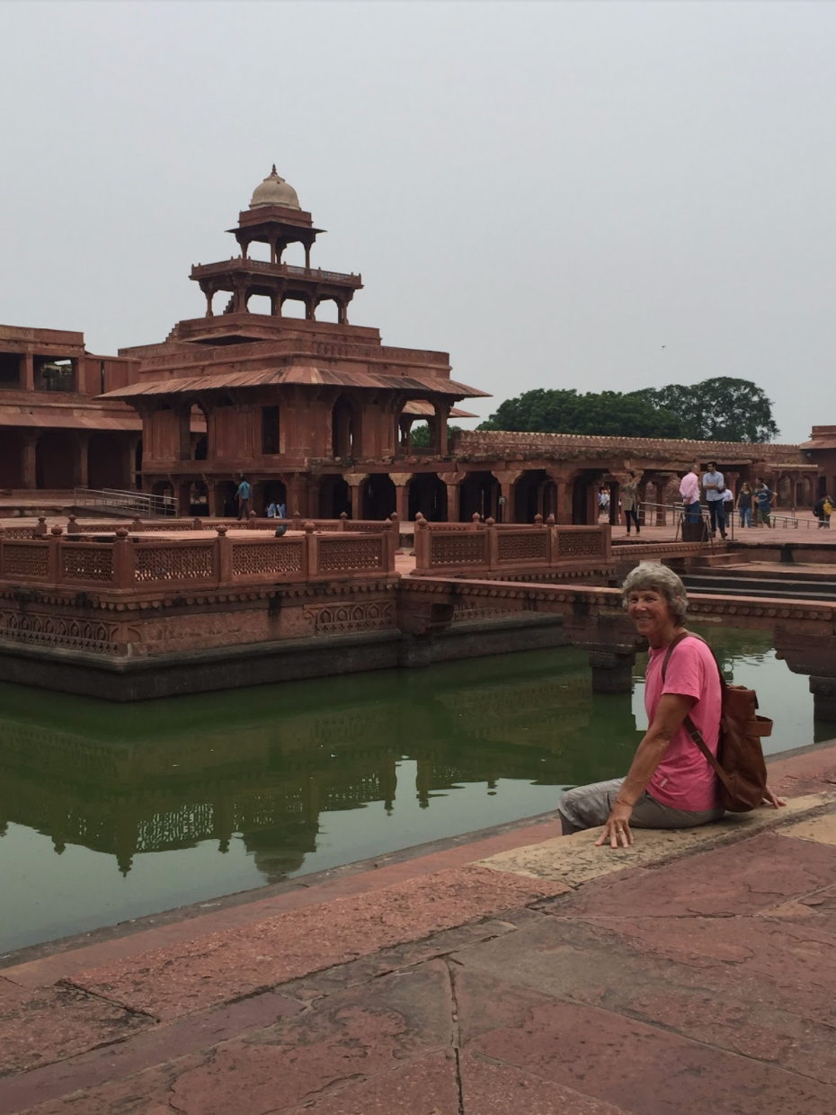 Sitting near the water by ​​​​​​​Fatehpur Sikri