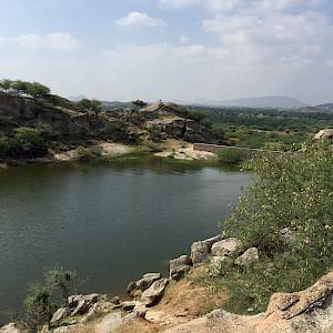 Overlooking reservoir