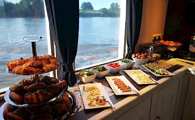 Breakfast Buffet on Magnifique III - Bike & Boat Tours