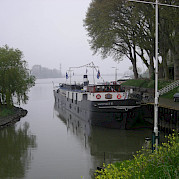 Misty morning on Magnifique III - Bike & Boat Tours