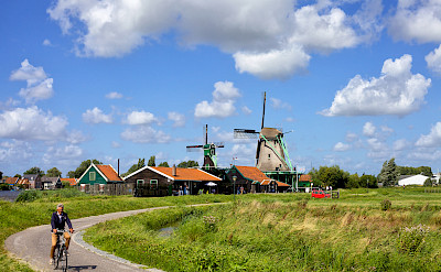 Biking near Amsterdam in North Holland, the Netherlands. Photo via Flickr:Francesca Cappa