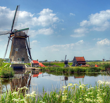 Windmills galore in Kinderdijk, South Holland, the Netherlands. Photo via Flickr:John Morgan