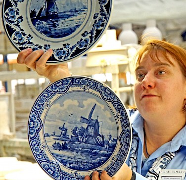Delftware in Delft, South Holland, the Netherlands. Photo via Flickr:Dennis Jarvis