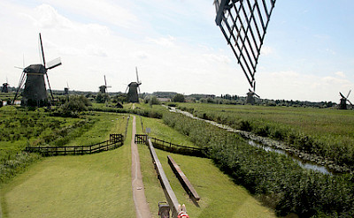 View from a windmill in Kinderdijk, South Holland, the Netherlands. Photo via Flickr:bertknot