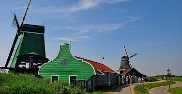 Zaanse Schans in Zaandam, North Holland, the Netherlands. Photo via Flickr:David Sanz