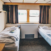 Main Deck Twin Cabin on the Arlene II | Bike & Boat Tours