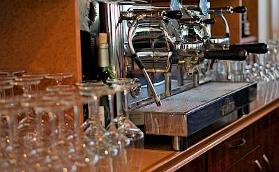 Bar area on the Arlene II | Bike & Boat Tours