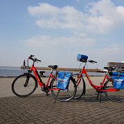 Bikes on the Arlene II: E-Bike on the left, 7-Speed Hybrid on the right | Bike & Boat Tours