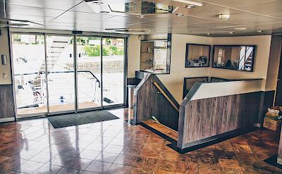 Reception Area on the Arlene II   Bike & Boat Tours