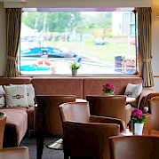 Salon/Lounge on the Arlene II | Bike & Boat Tours