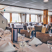 Restaurant/Dining Room on the Arlene II | Bike & Boat Tours