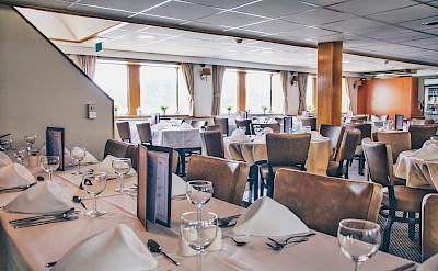 Restaurant/Dining Room on the Arlene II | Bike & Boat Tours