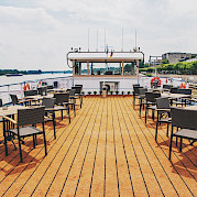 Sundeck on the Arlene II | Bike & Boat Tours