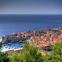 Bike rest to admire the view of Dubrovnik, Croatia. Flickr:Michael Caven