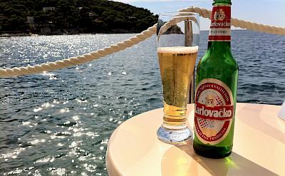 After-bike beer break near Dubrovnik, Croatia. Flickr:sjpinkney