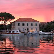 Sunset over Jelsa, Hvar Island, Croatia. Wikimedia Commons:Julomi