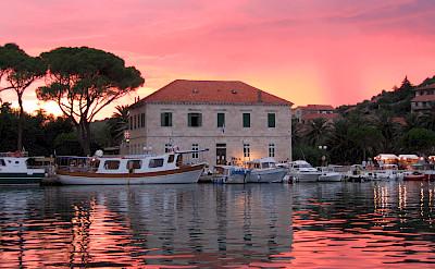 Sunset over Jelsa, Hvar Island, Croatia. CC:Julomi