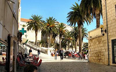 Sightseeing off bike in Korcula, Croatia. Flickr:Perokvrzica