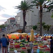 Fruit market on Korcula Island, Croatia. Flickr:Andrea Musi