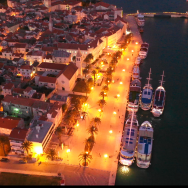 Trogir, Croatia - harbor at night - by Jan VandenHengel