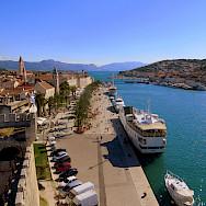 Scenic harbor in Trogir, Dalmatia, Croatia. Photo via Flickr:Kate