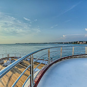 Beautiful sun deck view - New Star | Bike & Boat Tours