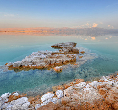 Gorgeous waters at the Dead Sea, Israel. Photo via Flickr:tsaiproject