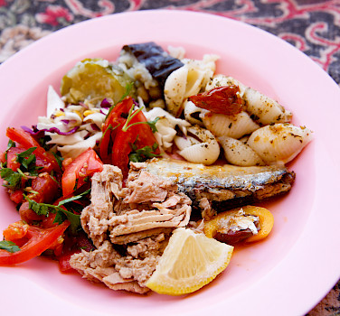 Even out in the desert, experience the fresh food of Jordan!